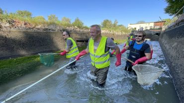 Lochbach Abfischen: Gewässerpflege mit Spaß!